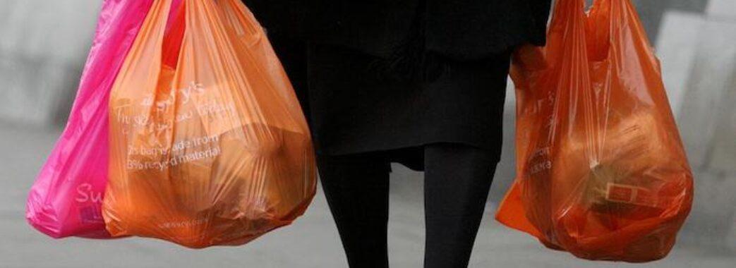 Верховна Рада заборонила використовувати пластикові пакети