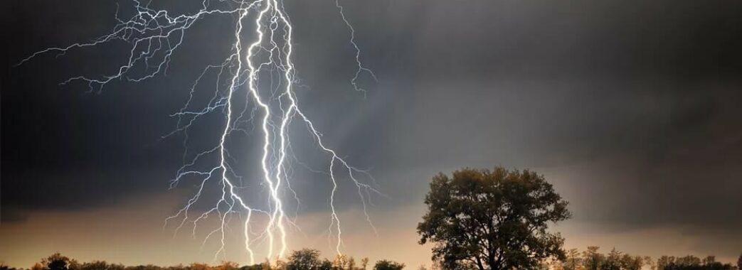Гроза, град та шквали: на Львівщині оголосили штормове попередження