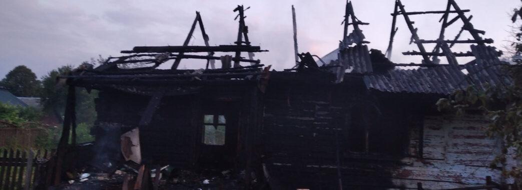 На Самбірщині загорівся будинок разом із господарем усередині