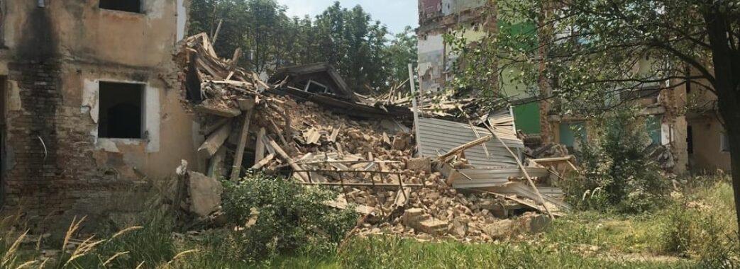 У Дрогобичі обвалилася ще одна частина будинку на Грушевського