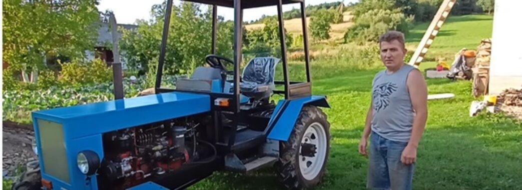 Умілець із Самбірщини самотужки зібрав трактор в орендованому гаражі (ВІДЕО)