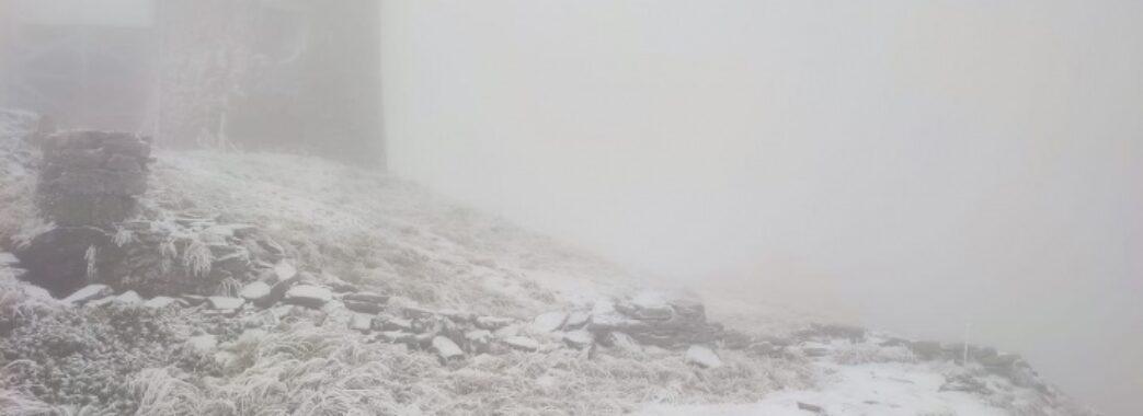 В Україні випав перший сніг